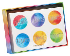 Tie Dye Dots Boxed Thank You Cards and Envelopes, 14-Count