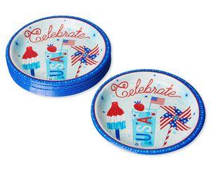 Patriotic Paper Dinner Plates, 8-Count