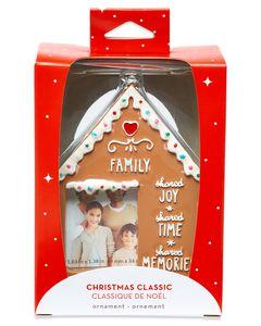 Family Gingerbread Frame Ornament
