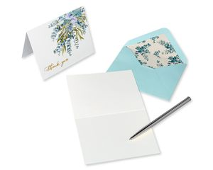 Eucalyptus Leaves Blank Note Cards with Envelopes, 20-Count