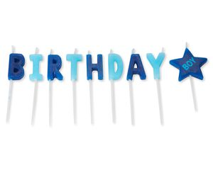 Boy Birthday Toothpick Candles, 9-Count