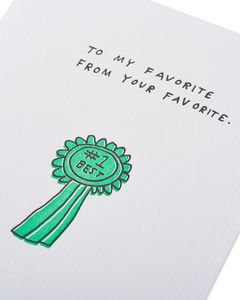 playing favorites mother's day card