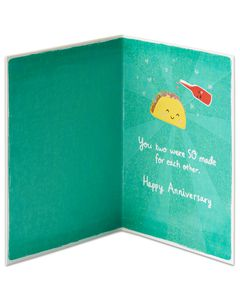 Taco and Hot Sauce Anniversary Card