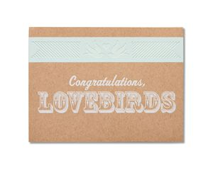 lovebirds wedding card