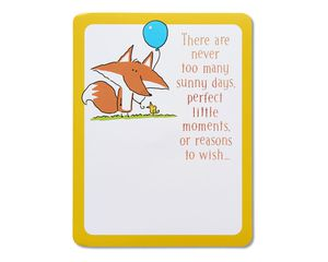 fox happy birthday card