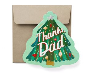 Thanks Christmas Card for Dad