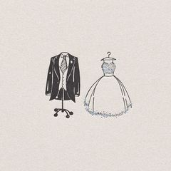 Wedding Outfits Wedding Greeting Card