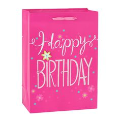 Small Gift Bag, Pink Happy Birthday
