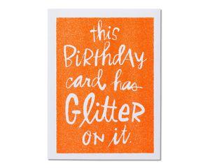 Glitter Birthday Card