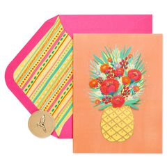 Pineapple Birthday Greeting Card