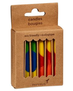 Colorful Birthday Candles 12-Count