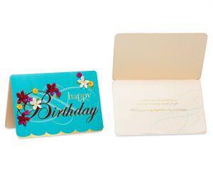 Elegant Birthday Greeting Card Bundle, 3-Count