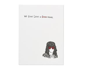 give love a good name valentine's day card