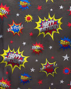 Ka-Pow Wrapping Paper, 22.5 Total Sq. Ft.