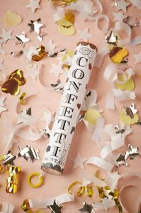Gold and Silver Confetti Fountain