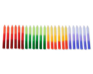 Ombré Birthday Candles, 24-Count
