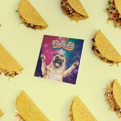 Rainbow Pug Father's Day Card