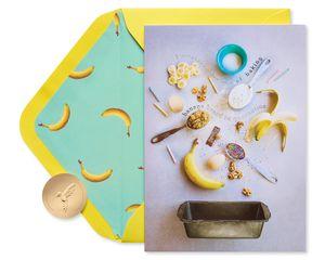 Banana Bread Quarantine Birthday Greeting Card