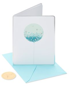 Blue Balloon Birthday Greeting Card