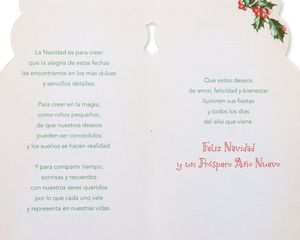 Creer y Compartir Christmas and Feliz Navidad Card