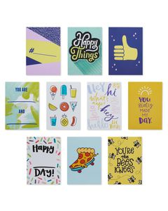 Happy Vibes Lunch Box Mini Notes, 40-Count