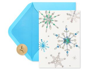 Snowflake Holiday Boxed Cards, 14-Count