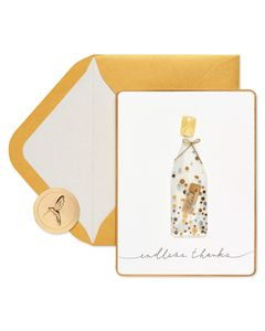 Message in a Bottle Thank You Greeting Card