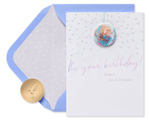 Shake It Don't Break It Funny Birthday Greeting Card
