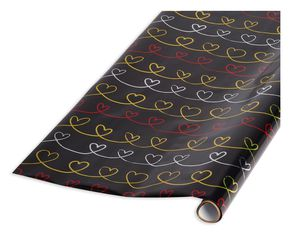 Hearts Scroll Wrapping Paper