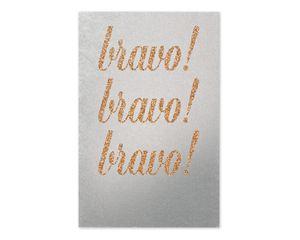 bravo congratulations card with glitter