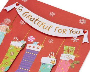 Stockings Christmas Card for Mom