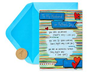 Why I Love You Father's Day Greeting Card for Husband