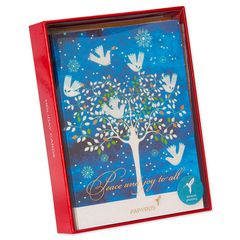 Dove in Trees Holiday Boxed Cards, 14-Count