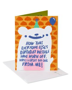 Birthday Wishes Belated Birthday Card