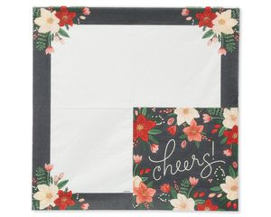 Winter Floral Lunch Napkins, 16-Count