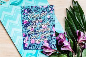 Floral Bridal Shower Card Lifestyle Image