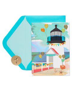 Birthday Lighthouse Birthday Greeting Card