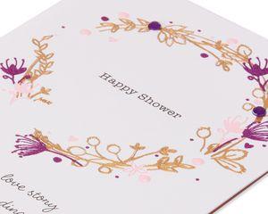 Wreath Bridal Shower Wedding Card