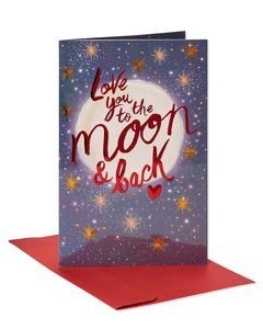 Moon and Back Valentine's Day Card
