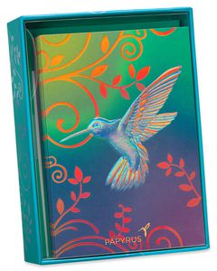 Hummingbird Boxed Blank Note Cards, 12-Count
