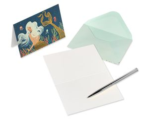 Mermaid Boxed Blank Note Cards with Envelopes, 14-Count