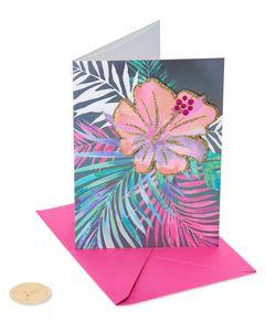 Tropical Birthday Greeting Card