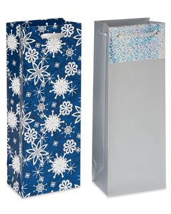 Christmas Beverage Bag and Tissue Bundle, 4 Bags; 20 Sheets of Tissue