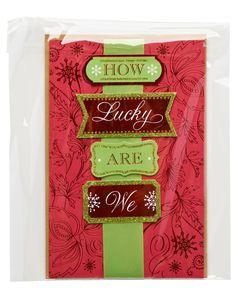 How Lucky Are We Christmas Card