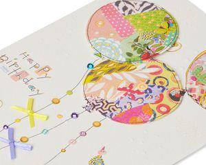 Patchwork Balloons Birthday Greeting Card