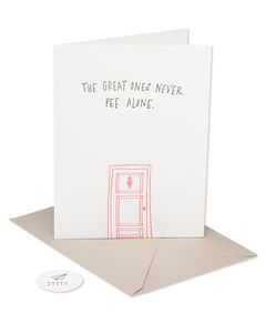 never pee alone mother's day card