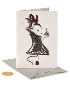 Minnie And Cupcake Birthday Greeting Card