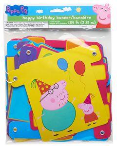Peppa Pig Birthday Party Banner