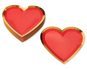 Valentine's Day Heart Dessert Plate, 8-Count