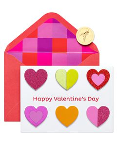 Colorful Hearts Valentine's Day Greeting Card